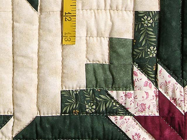 Green and Burgundy Eureka Quilt Photo 5