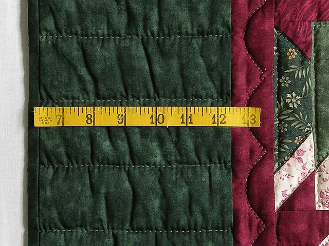 Green and Burgundy Eureka Quilt Photo 7