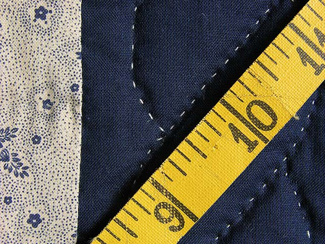 Navy and Yellow Chevron Log Cabin Quilt Photo 7