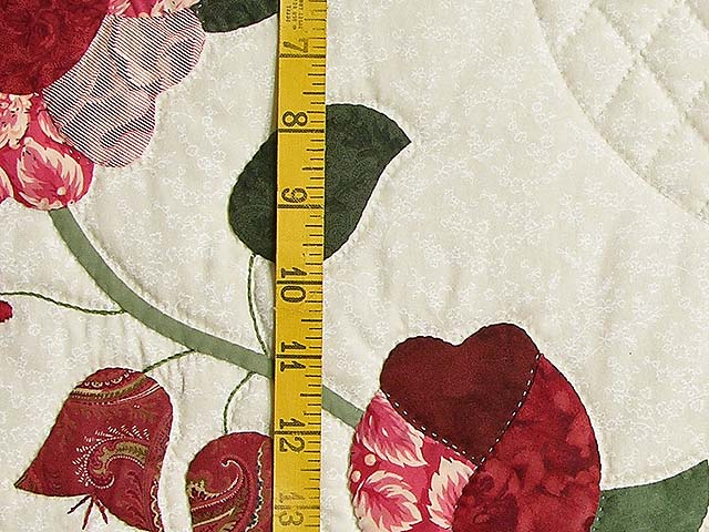 King Red Paisley Heart of Roses Quilt Photo 6