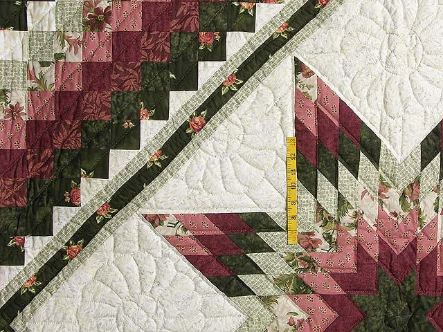 Rose and Green Lone Star Trip Quilt Photo 4