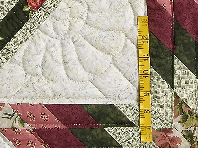 Rose and Green Lone Star Trip Quilt Photo 5