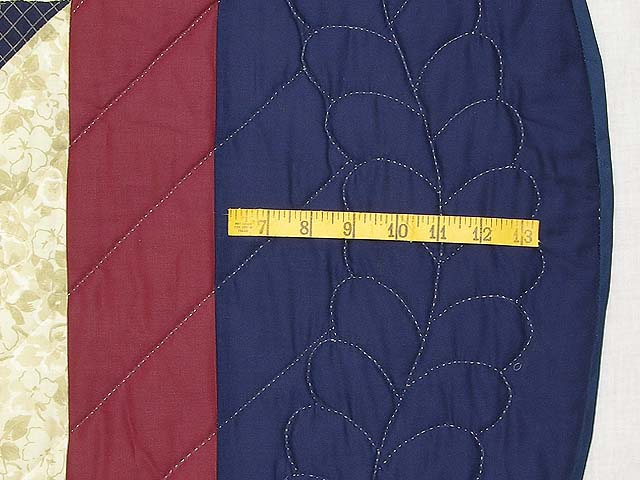 King Navy and Burgundy Eight Point Wreath Quilt Photo 7
