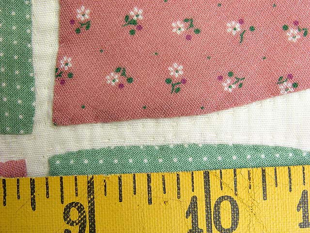 Peach and Green Bridal Wreath Applique Quilt Photo 7