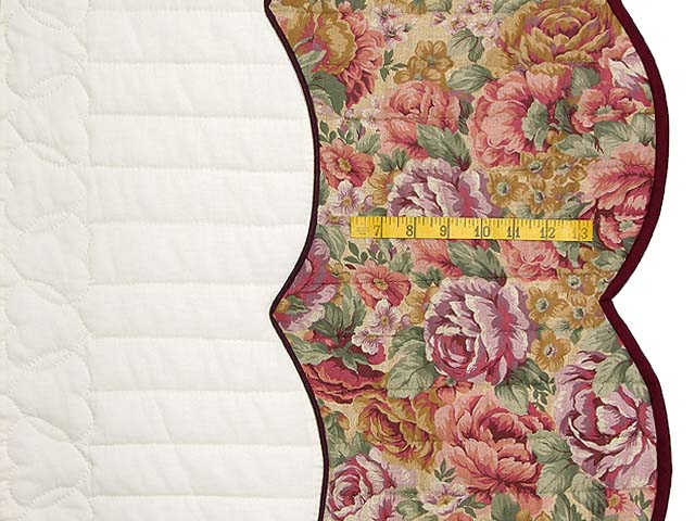 Brick and Salmon Heart of Roses Quilt Photo 7