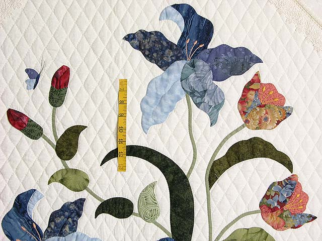 Coral Blue and Green Petal Showcase Quilt Photo 5