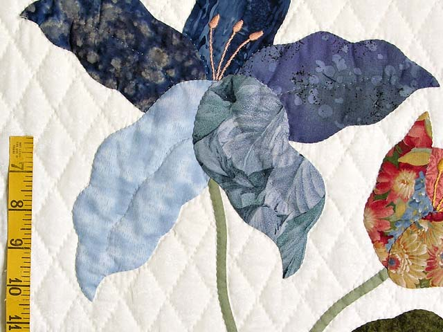 Coral Blue and Green Petal Showcase Quilt Photo 6
