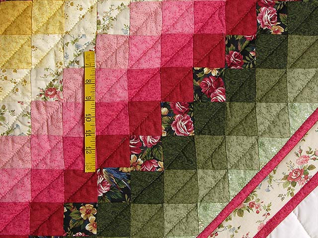 King Rose Peach and Gold Sweetheart Sunshine and Shadow Quilt Photo 6