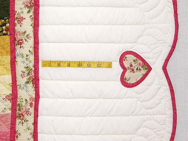 King Rose Peach and Gold Sweetheart Sunshine and Shadow Quilt Photo 7