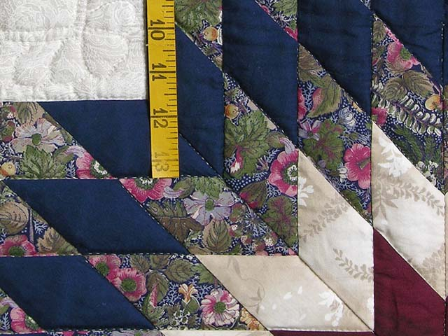 Navy and Burgundy Lone Star Log Cabin Quilt Photo 5