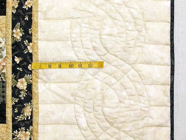 Black and Gold Lone Star Quilt Photo 6