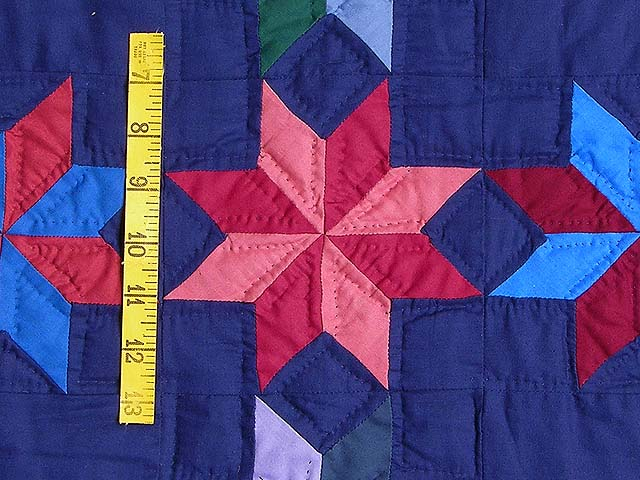 Navy and Multicolor Starry Path Quilt Photo 5