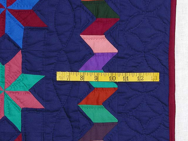 Navy and Multicolor Starry Path Quilt Photo 6