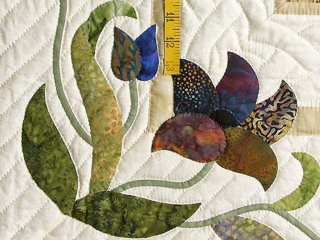 Neutrals Gold Plum and Green Rainbow Reflections Quilt Photo 5
