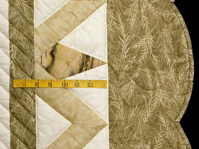 Neutrals Gold Plum and Green Rainbow Reflections Quilt Photo 7
