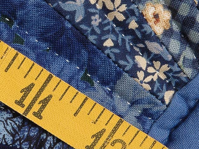 Navy and Yellow Broken Star with Fans Quilt Photo 8