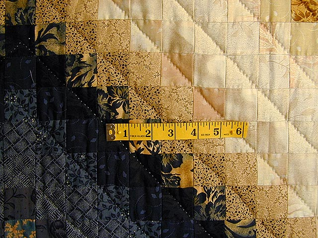Gold and Blue Color Splash Quilt Photo 4