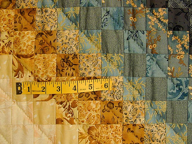 Gold and Blue Color Splash Quilt Photo 5
