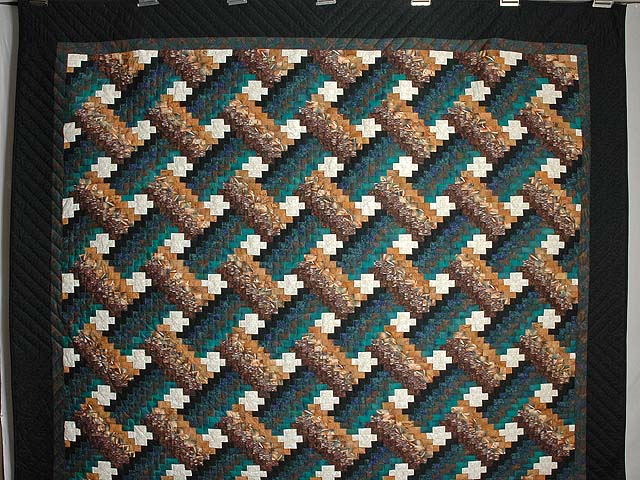 Teals and Tans Weavers Fever Quilt Photo 2