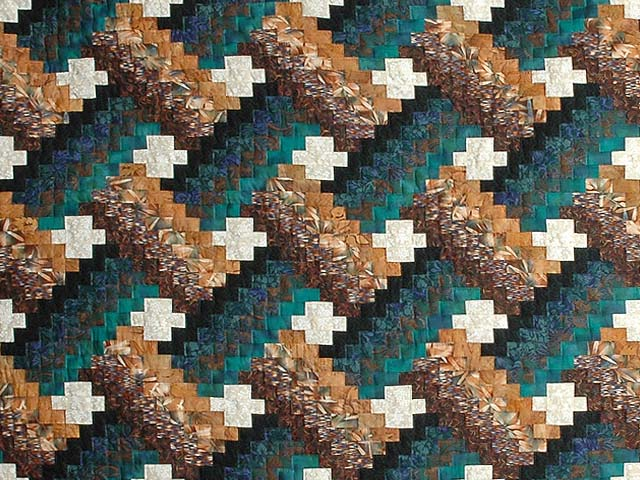 Teals and Tans Weavers Fever Quilt Photo 3