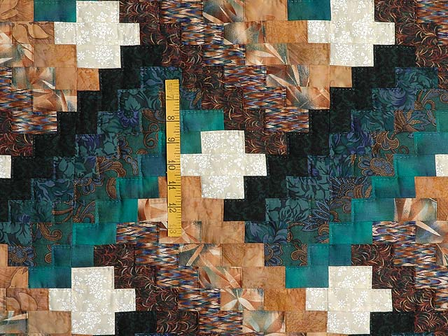 Teals and Tans Weavers Fever Quilt Photo 4