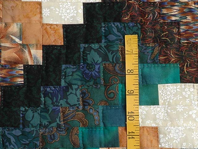 Teals and Tans Weavers Fever Quilt Photo 5