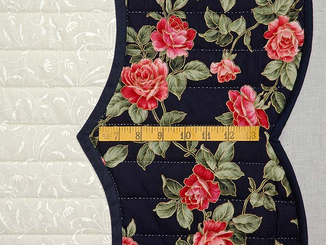Navy Rose and Moss Lancaster Treasures Quilt Photo 7