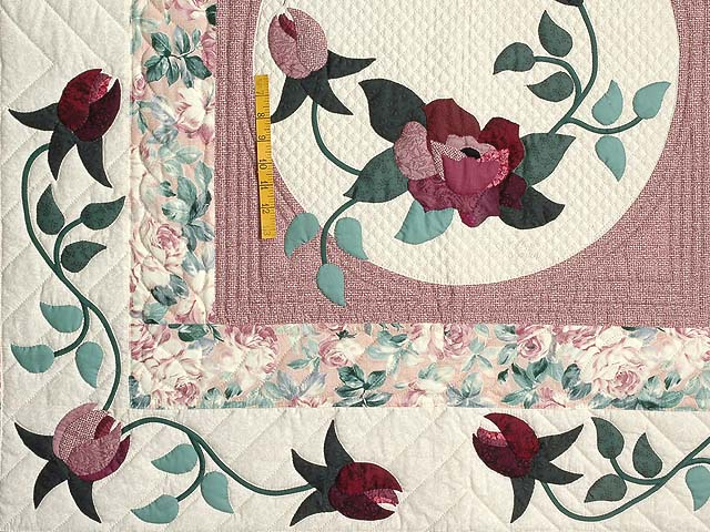 Dark Green and Plum I Promised You a Rose Garden Quilt Photo 5