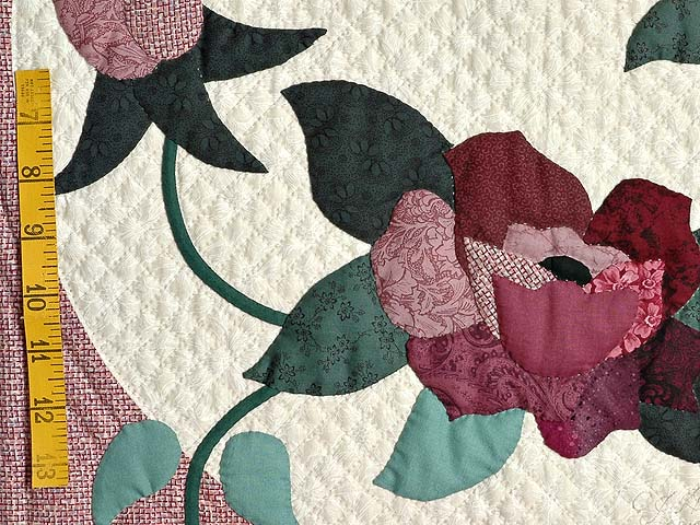 Dark Green and Plum I Promised You a Rose Garden Quilt Photo 6