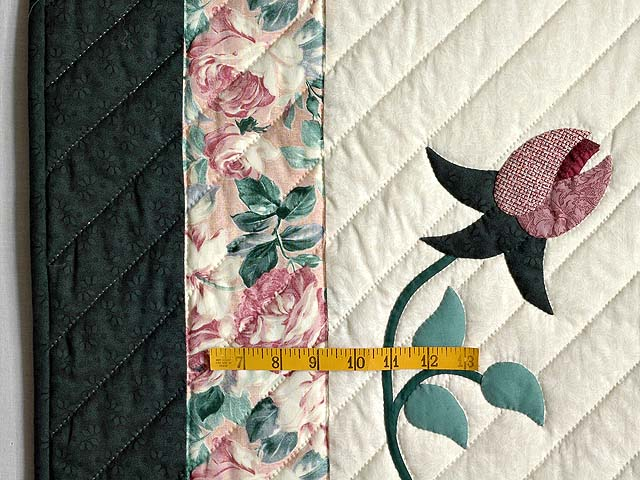Dark Green and Plum I Promised You a Rose Garden Quilt Photo 7