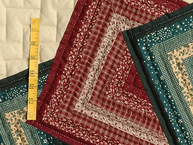 Green and Burgundy Star Spin Quilt Photo 5