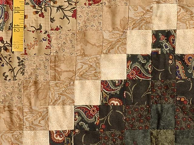 Navy Burgundy Gold and Green Color Splash Quilt Photo 5