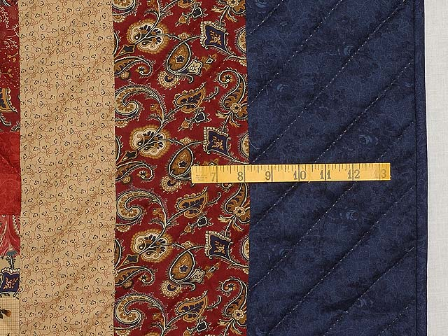 Navy Burgundy Gold and Green Color Splash Quilt Photo 7