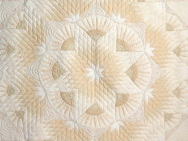 All Neutrals Cathedral Star Quilt Photo 3