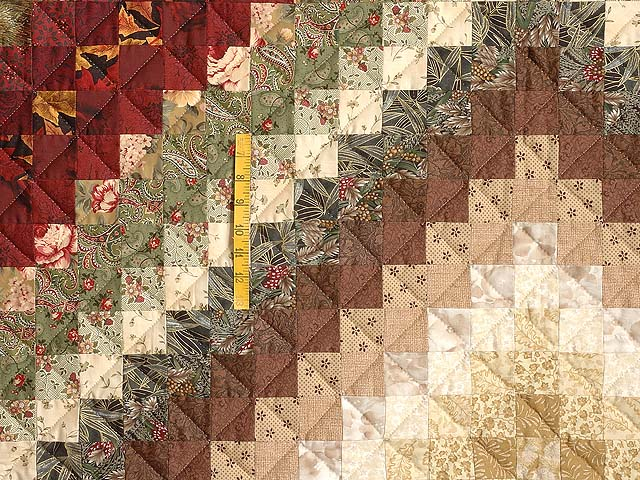 Earth Tones Trip Around the World Quilt Photo 4