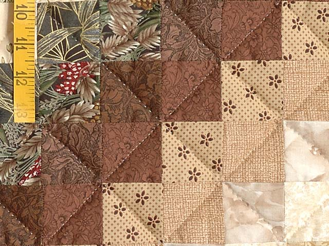 Earth Tones Trip Around the World Quilt Photo 6