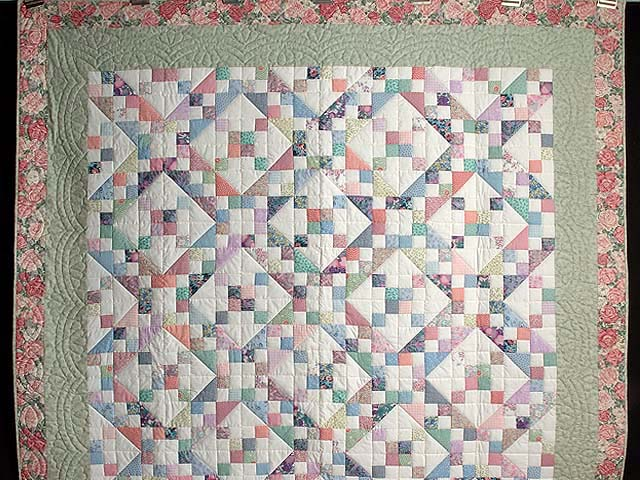 Pastel Jacobs Ladder Quilt Photo 2