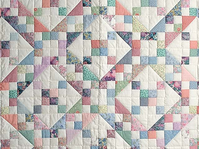 Pastel Jacobs Ladder Quilt Photo 3