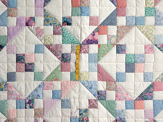 Pastel Jacobs Ladder Quilt Photo 4