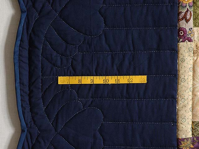 Navy Wheat and Multi Lone Star Log Cabin Quilt Photo 6
