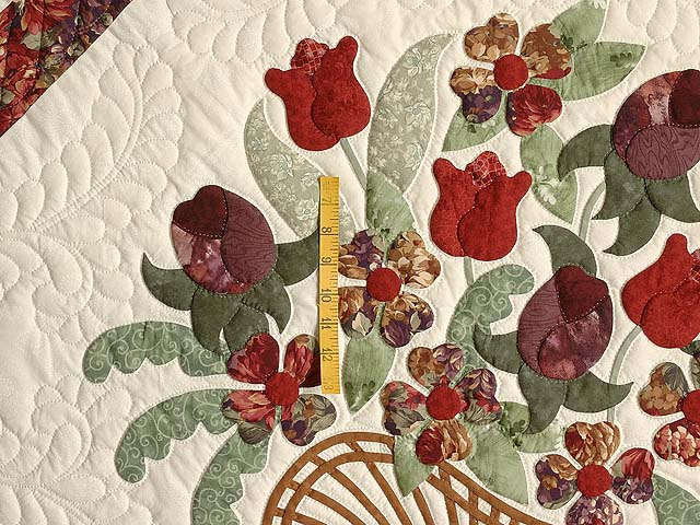 Rust and Plum Spring Basket Quilt Photo 4