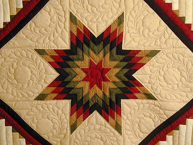 Lone Star Log Cabin Quilt Wonderful Specially Made