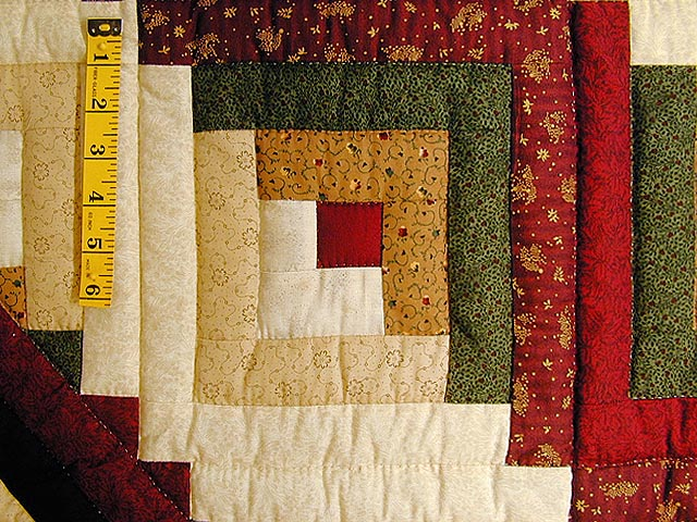Autumn Colors Lone Star Log Cabin Quilt Photo 5