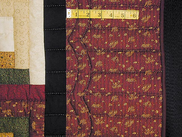 Autumn Colors Lone Star Log Cabin Quilt Photo 6