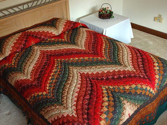 Autumn Leaves Bargello Quilt Photo 1
