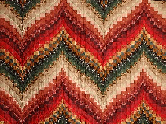 Autumn Leaves Bargello Quilt Photo 3