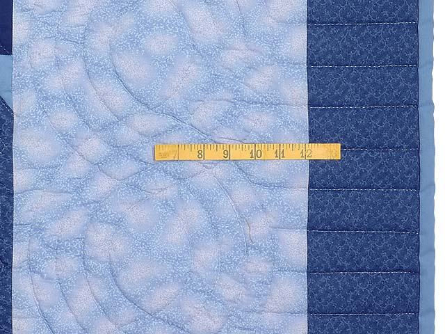 Blue Hearts Cross Stitch Quilt Photo 6