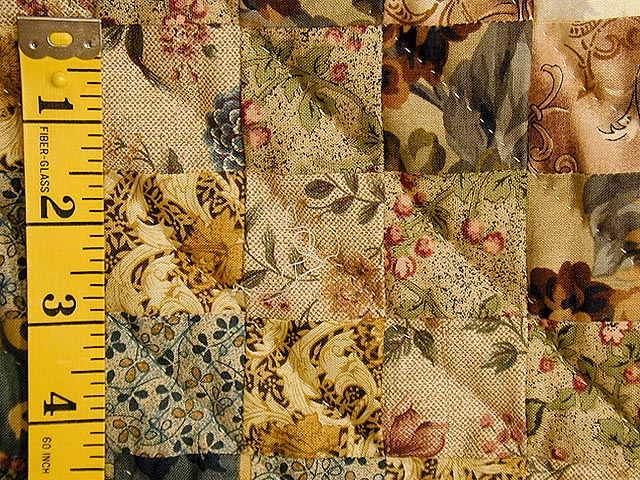 Burgundy and Gold Color Splash Quilt Photo 6