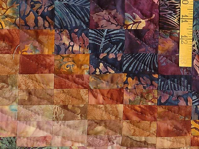 Twin-size Hand Painted Bargello Wave Quilt Photo 5