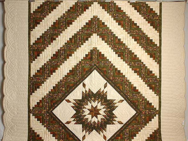 Autumn Colors Lone Star Log Cabin Quilt Photo 2